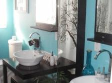 Ванная - бирюзовый с черным