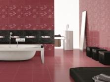 Бордово-коричневая ванная