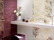 Бордовый и бежевый - ванная