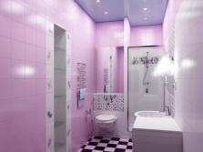 Оттенки фиолетового в ванной комнате