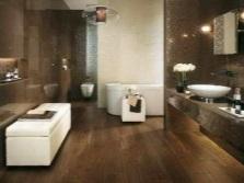 Темно-коричневая ванная