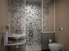 Коричневые оттенки в ванной комнате