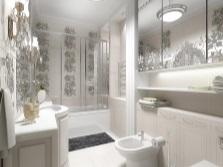 Элегантная ванная в белом цвете