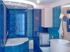 Комбинация синего в ванной