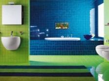 Сине-зеленая ванная комната