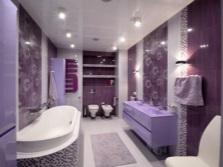 Ванная комната в фиолетовых оттенках