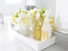 Цветочки в ванной комнате