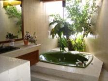 Цветы в ванной без окна