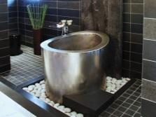 Ванная комната в японском стиле без санузла