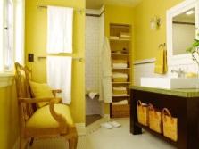 Желтая ванная без туалета для сангвиника