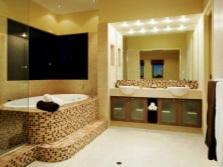Сочетание светлой гаммы цветов в ванной для флегматика