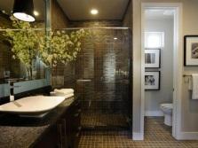 Просторная ванная с душевой кабиной и раздельным санузлом