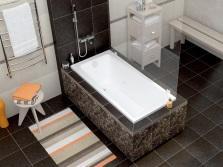 Размещение прямоугольной ванны