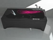 прямоугольная ванна с подсветкой