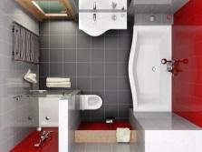 Ванна в ванной комнате - план