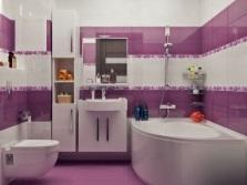 Вариант отделки стен в ванной комнате