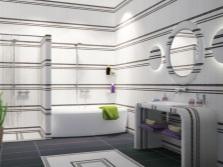 Светлая отделка в ванной