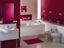 Маленькая ванная в стиле модерн