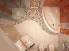 Перепланировка маленькой ванной