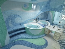 Синяя ванная конмната