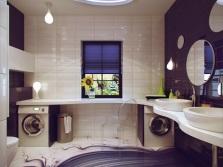 Бело-пурпурная ванная