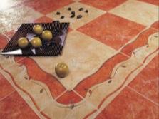 Напольная плитка в испанских традиционных цветах