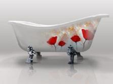 Чугунная ванна с росписью