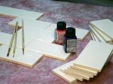 Подготовка плитки к нанесению эскиза