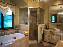 Большие, но комфортные ванные комнаты