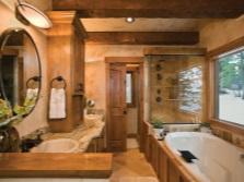 Уют большой ванной комнаты