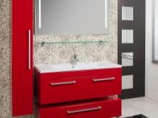 Красная мебель - ванная комната