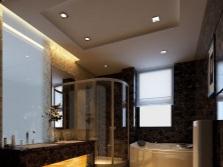 Душевая кабина и ванна в одной модной ванной комнате