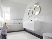Стильная белая ванная комната