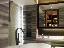 Модная серая ванная комната