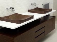 Стильные раковины в ванной комнате