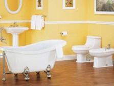 Модная ванная комната в желтом цвете
