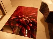 3D пол и кафельное покрытие в ванной