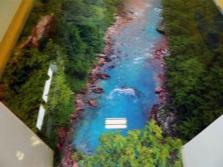 Река на рисунке пола