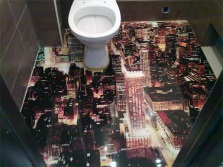 Наливной пол 3D в туалете