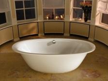 Овальные стальные ванны