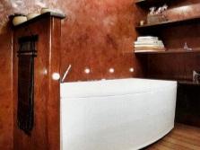 Отделка стен ванной штукатуркой