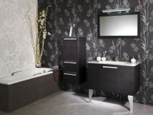 Обои для ванной в черном цвете