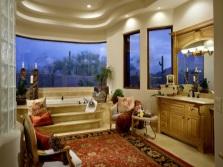 Ванная комната с мягкой мебелью