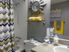 Серо-желтая ванная