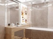 Хрустальные светильники в ванной комнате