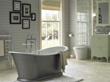 Серо зеленая ванная комната