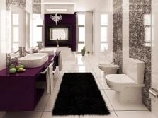 Коврики в просторной ванной