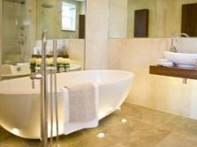 Напольная подсветка в ванной