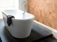 Пробка для стен в ванной комнате