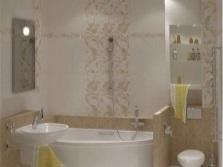 Декоративная плитка для небольшой ванной